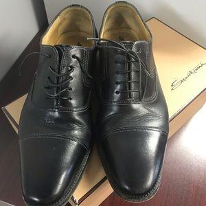 Santoni leather oxfords shoes